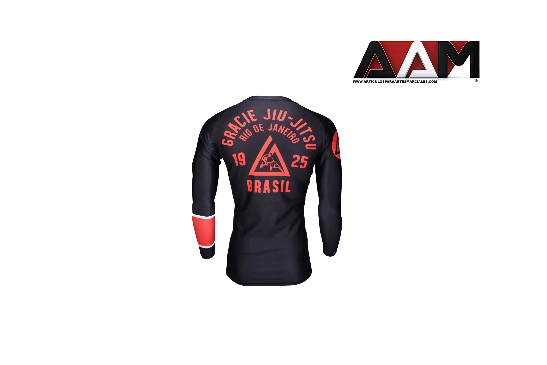 Gracie jiu jitsu long sleeve ranked rash guard