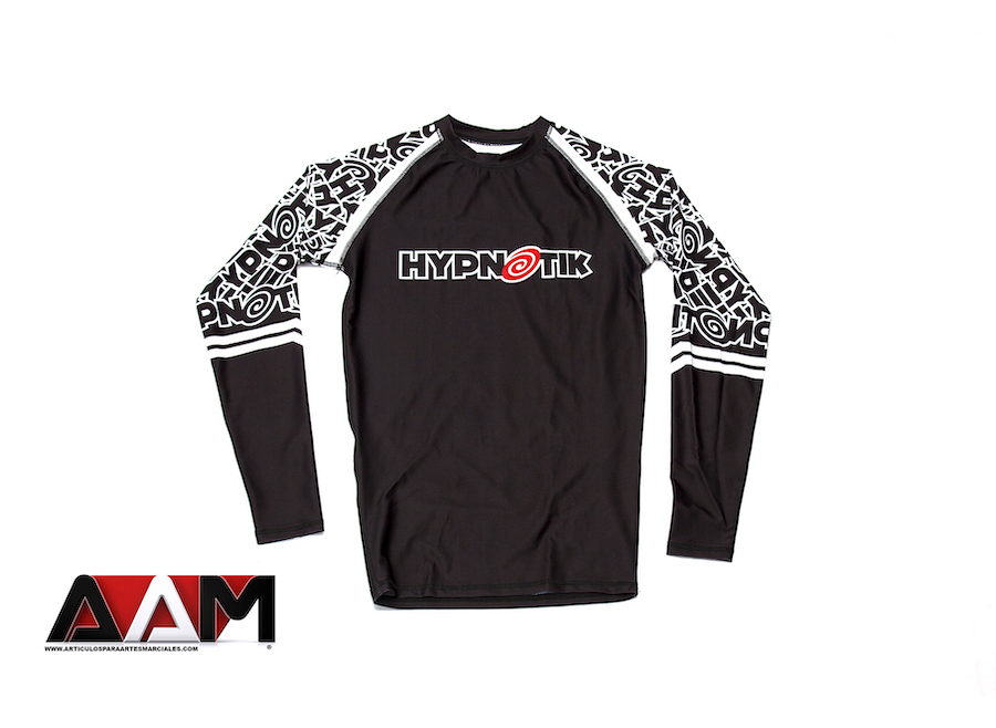 Rash guard Hypnotik negro ranked 2.0